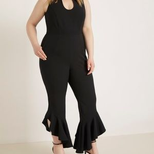 NWT Eloquii Ruffle leg jumpsuit Size 18